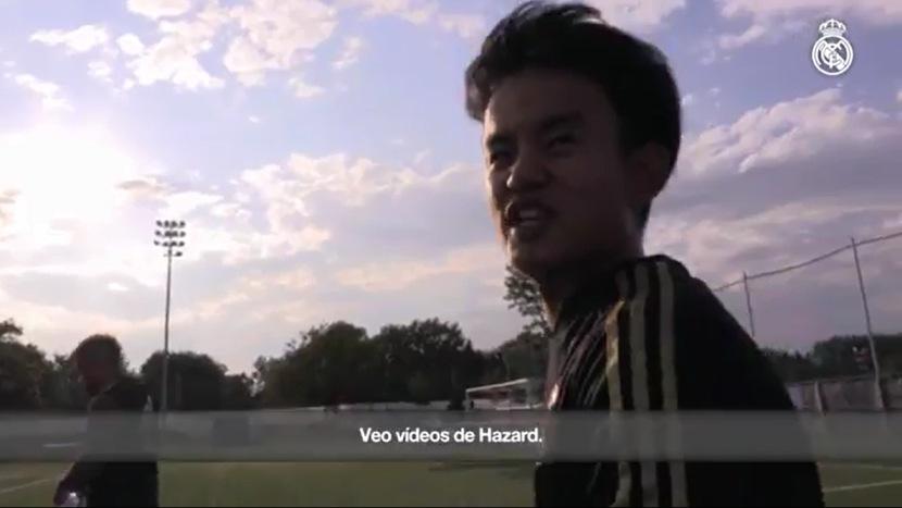 Real Madrid: Eden Hazard es una de las inspiraciones del japónes Kubo | VIDEO