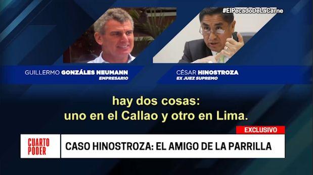 César Hinostroza: difunden nuevos audios con juez del Callao y empresario