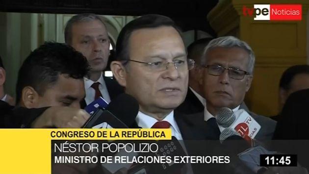 Néstor Popolizio:' No hay ningún secretismo en reuniones con César Hinostroza'