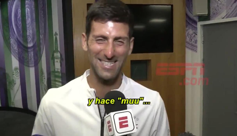 """Novak Djokovic canta """"La Vaca Lola"""" tras ganar Wimbledon y video es viral"""