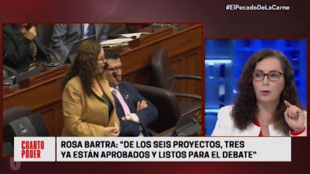 """Rosa Bartra cuestiona """"prisa"""" del Ejecutivo por aprobar reforma política"""