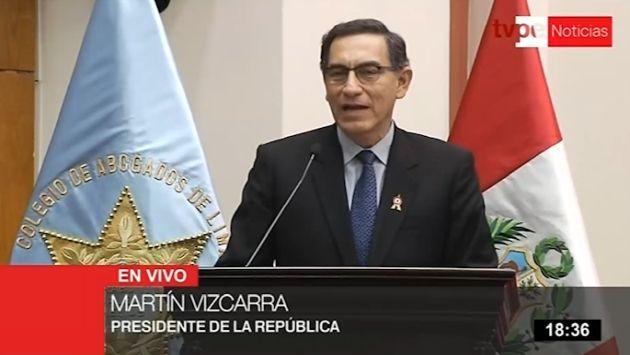 """Vizcarra sobre Toledo: Tiene que """"tener la valentía de enfrentar a la justicia del país"""""""