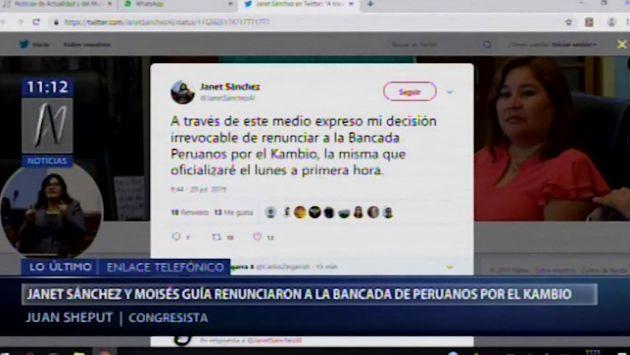 Sheput invita a Janet Sánchez y Moisés Guía a unirse al partido Contigo