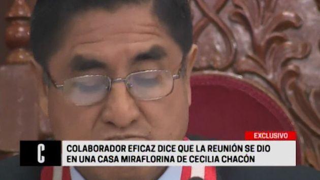 Keiko Fujimori se reunió con César Hinostroza en Miraflores, afirma testigo