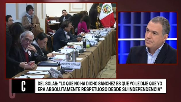 Salvador Del Solar admite que conversó para postergar debate del caso Salaverry