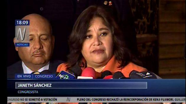 Janet Sánchez: Pedí a Salaverry ampliar agenda para ver casos de Ética