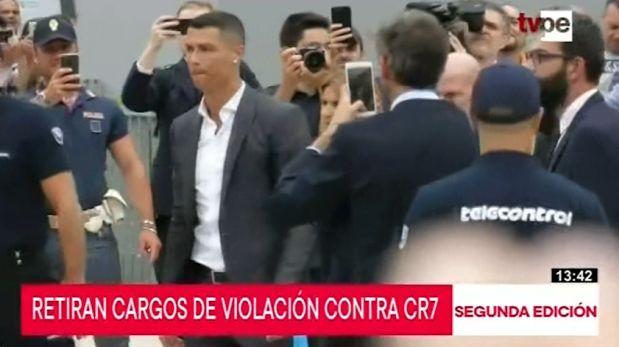 Retiran cargos de violación en contra de Cristiano Ronaldo