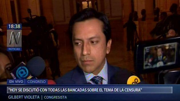 Violeta: Bancadas podrían retirar mociones de censura si Salaverry pide disculpas