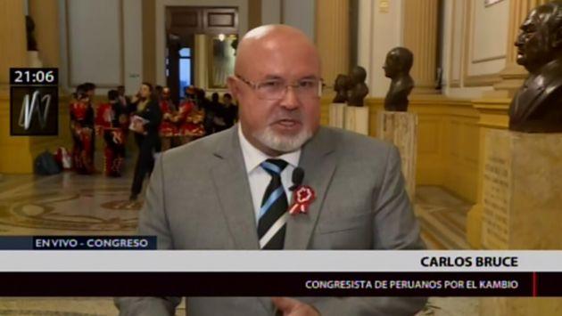 """Carlos Bruce: """"No hay un liderazgo firme que una a la bancada de PpK"""""""