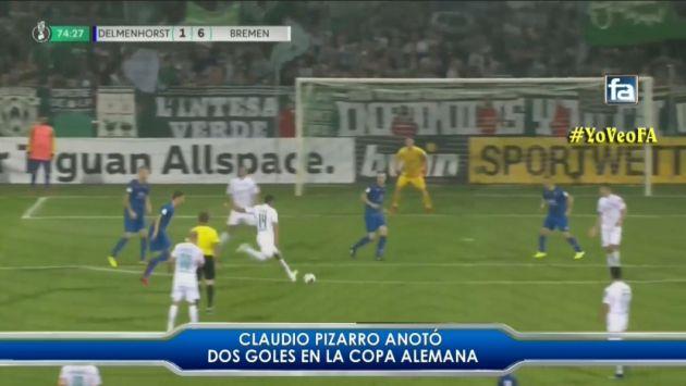 Claudio Pizarro marcó doblete en goleada del Werder Bremen por la Copa de Alemania