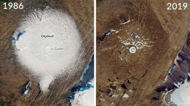 Glaciar islandés desaparece en tres décadas
