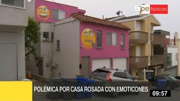 Pinta fachada con emoticones a modo de protesta