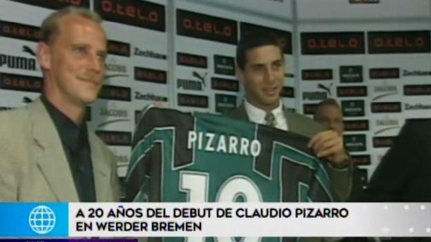 Claudio Pizarro celebra 20 años del debut en la Bundesliga