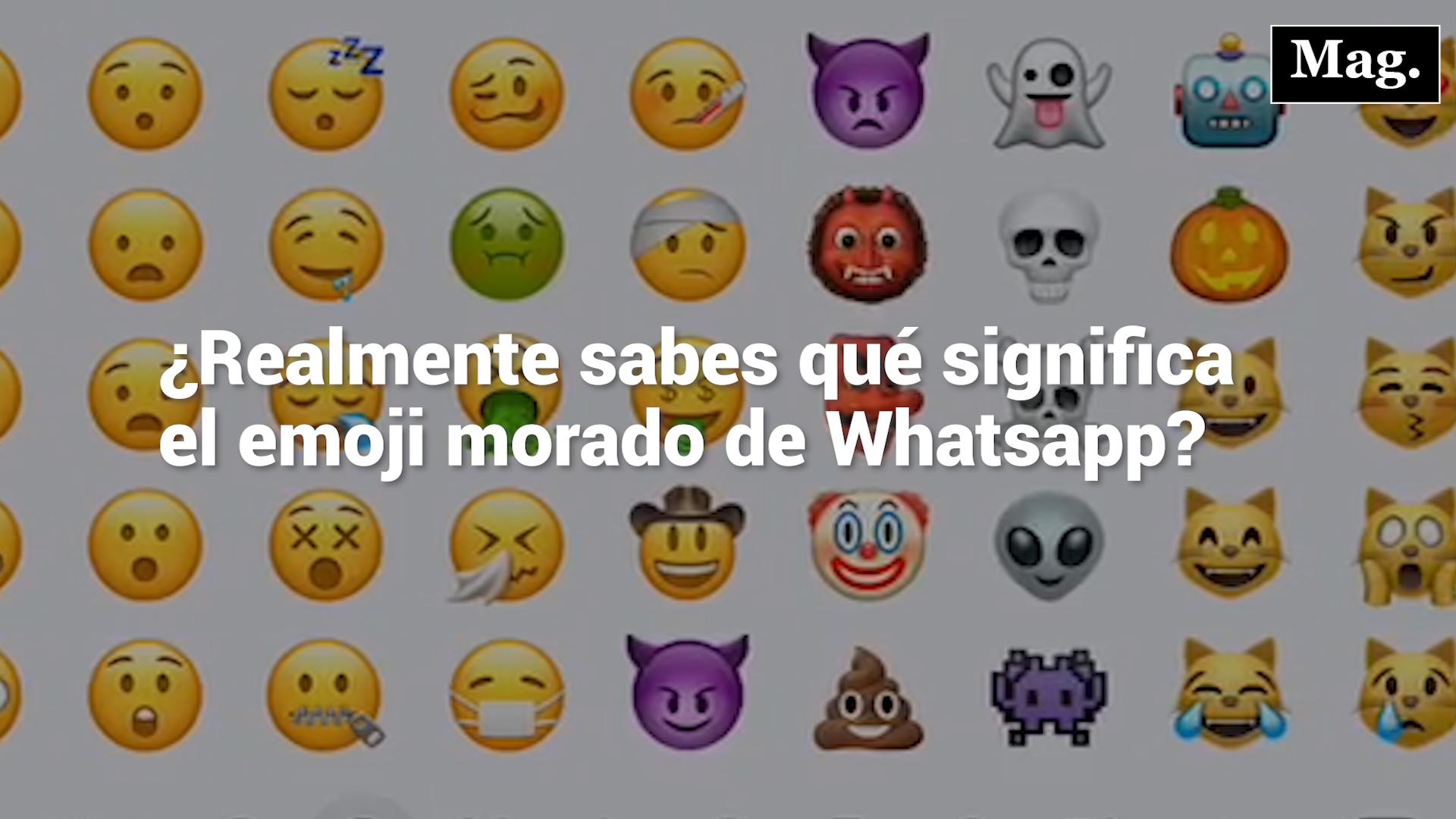 Conoce el verdadero significado del emoji 'diablito morado' en WhatsApp