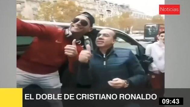 Doble de Cristiano Ronaldo causa sensación por las calles