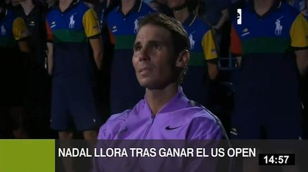 Rafael Nadal se emocionó hasta las lágrimas en la final del US Open