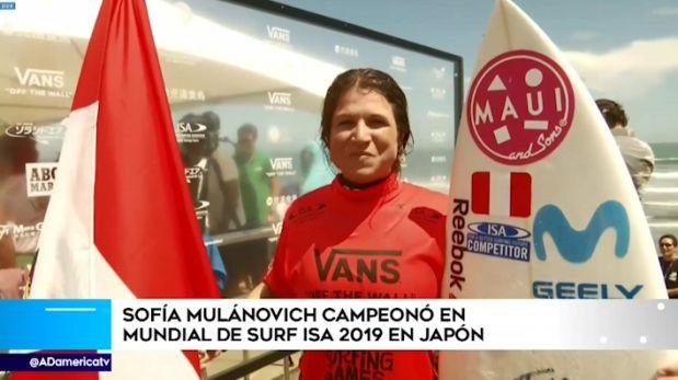 Sofía Mulanovich se coronó campeona mundial ISA en Japón