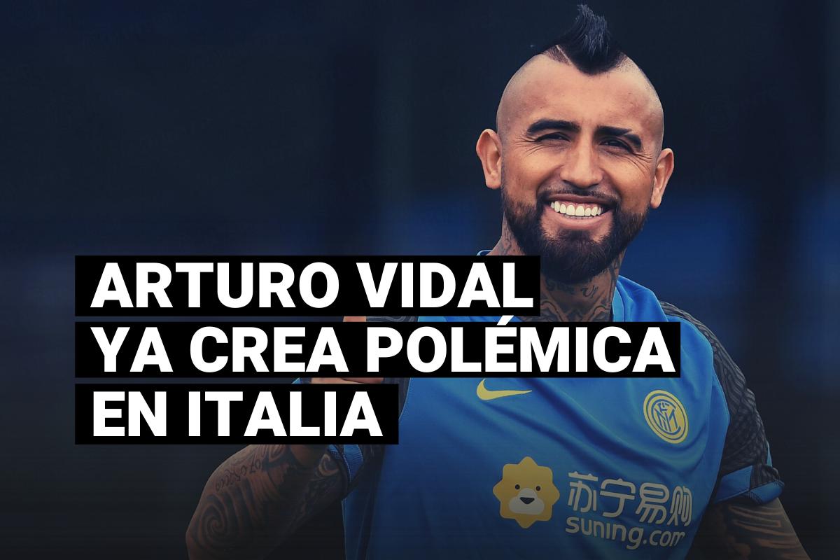 La primera polémica de Arturo Vidal con los hinchas del Inter