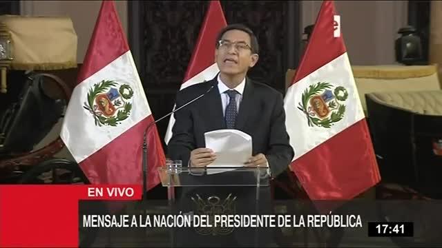 Perú: presidente Martín Vizcarra disuelve el congreso ante negación de cuestión de confianza