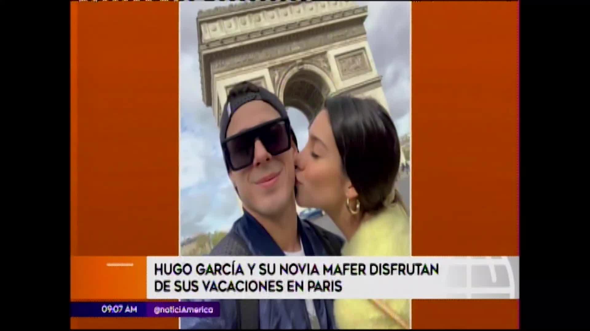 Mafer Neyra y Hugo García disfrutan de románticas vacaciones en París