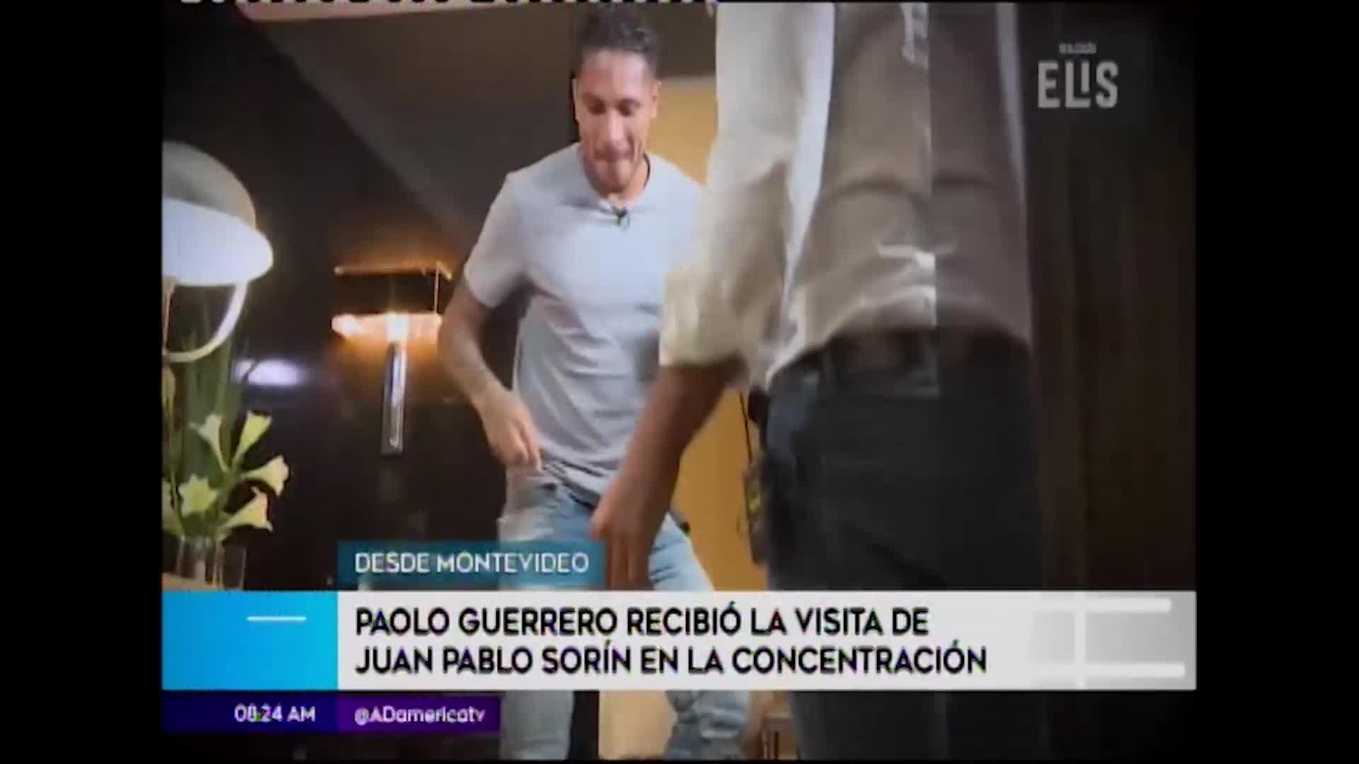 Paolo Guerrero recibe visita de Juan Pablo Sorín