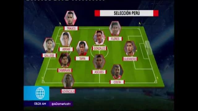 Ricardo Gareca usaría tres jugadores de contención ante Uruguay