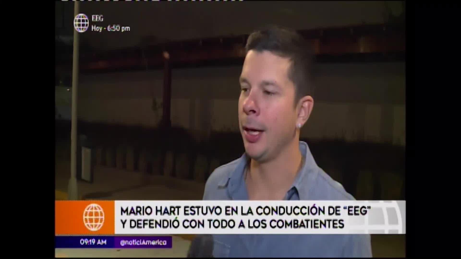EEG: Mario Hart regresó al reality para defender a los combatientes