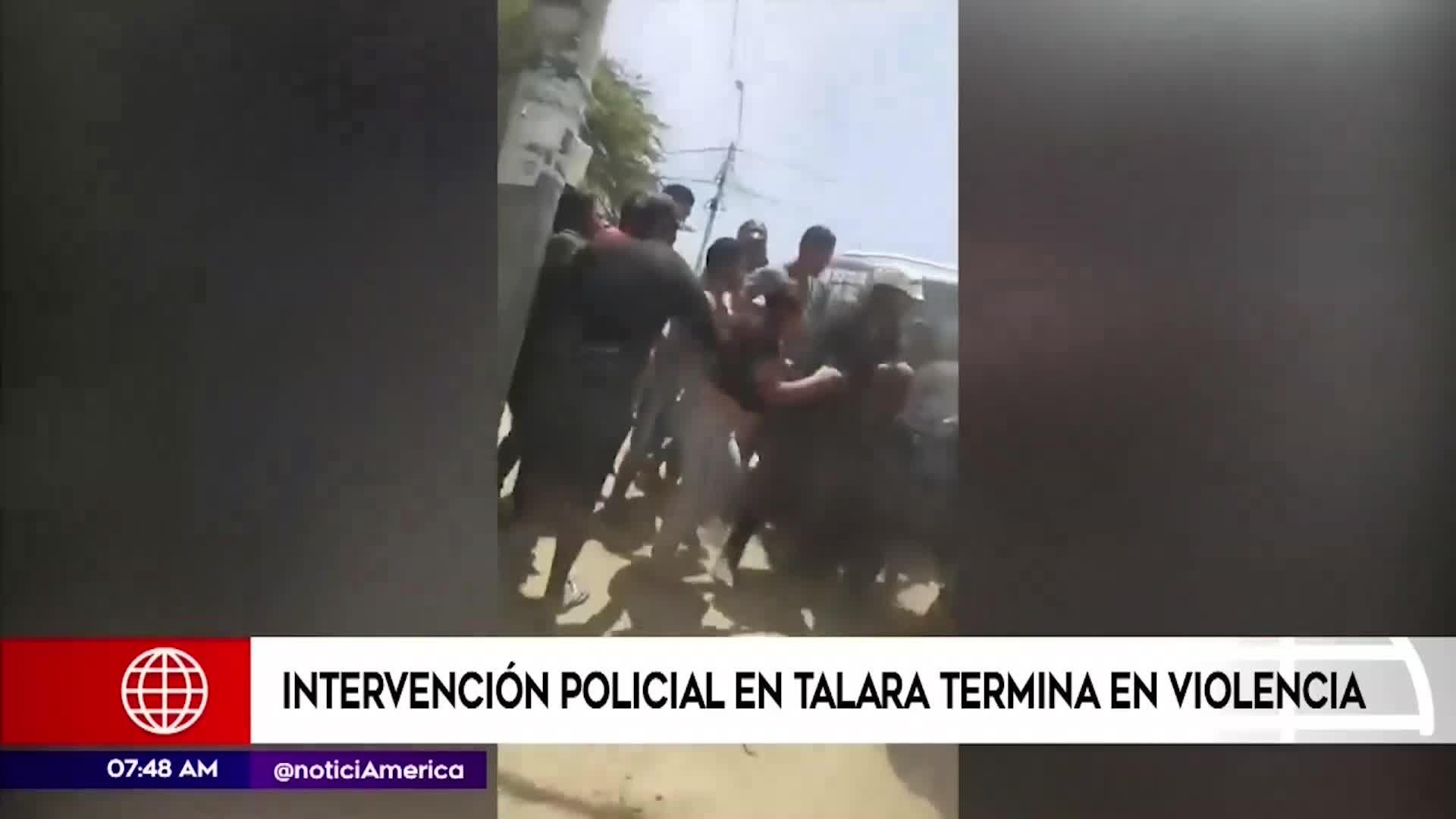 Talara: intervención policial termina en violencia
