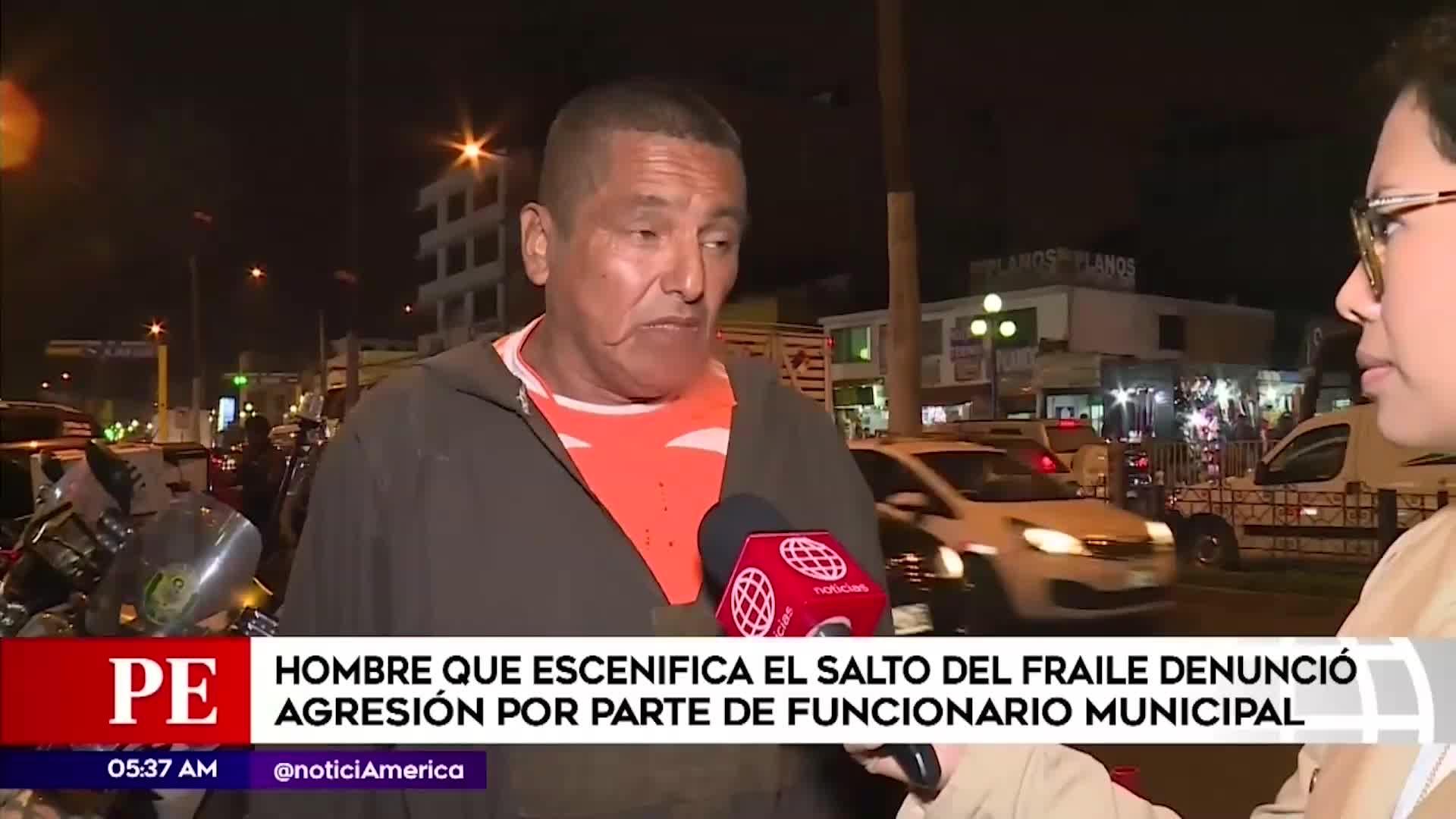 Chorrillos: hombre que escenifica 'el salto del fraile' denuncia agresión