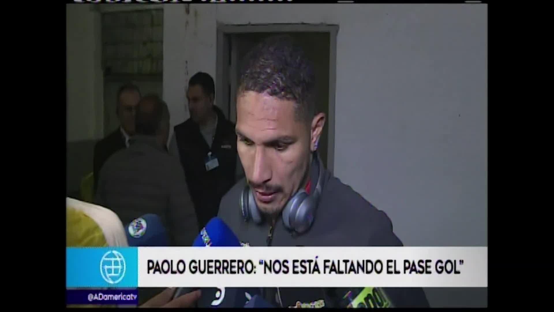 Paolo Guerrero habló de la sanción de dos partidos en Brasil