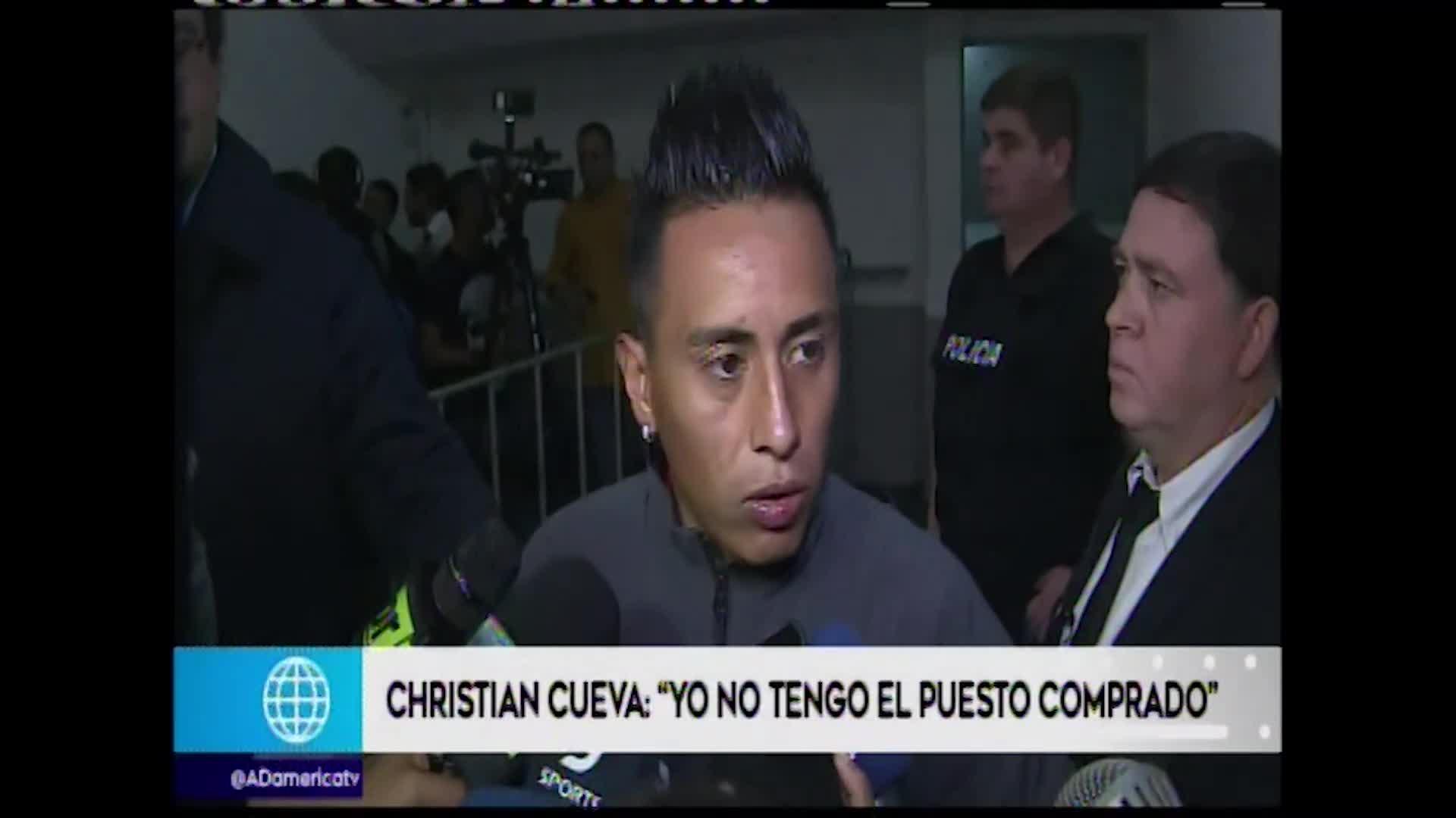 Christian Cueva acerca de su suplencia en el equipo de Ricardo Gareca