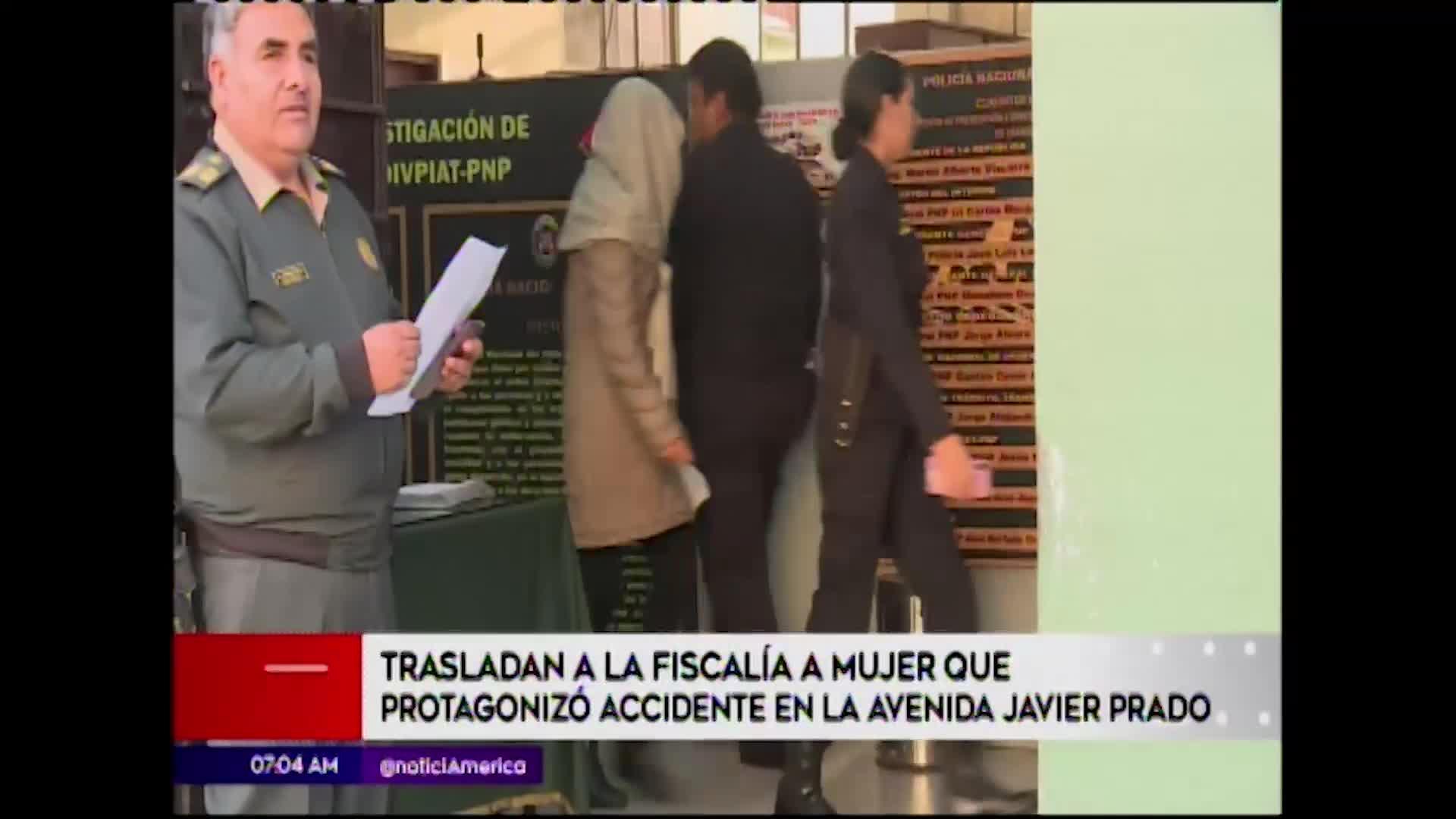 San Isidro: mujer que ocasionó terrible accidente en Javier Prado fue trasladada a la fiscalía