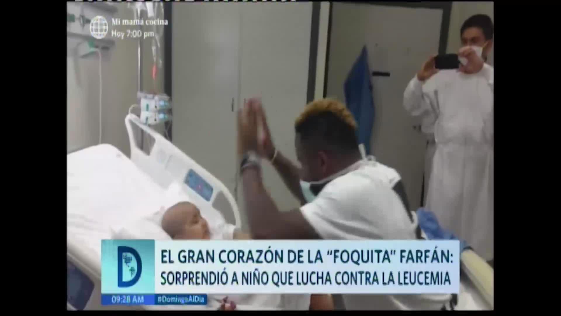Así sorprendió Jefferson Farfán a niño que padece leucemia
