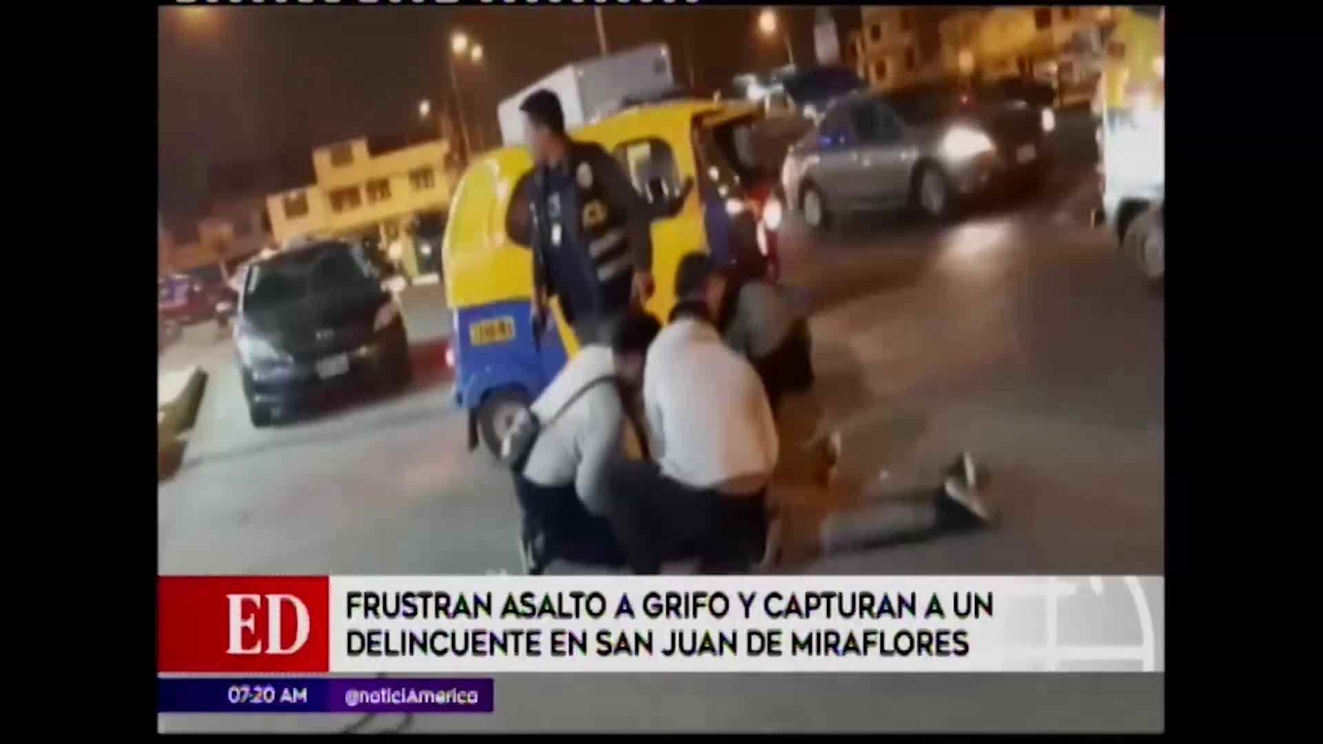 SJM: efectivos policiales frustran robo en grifo