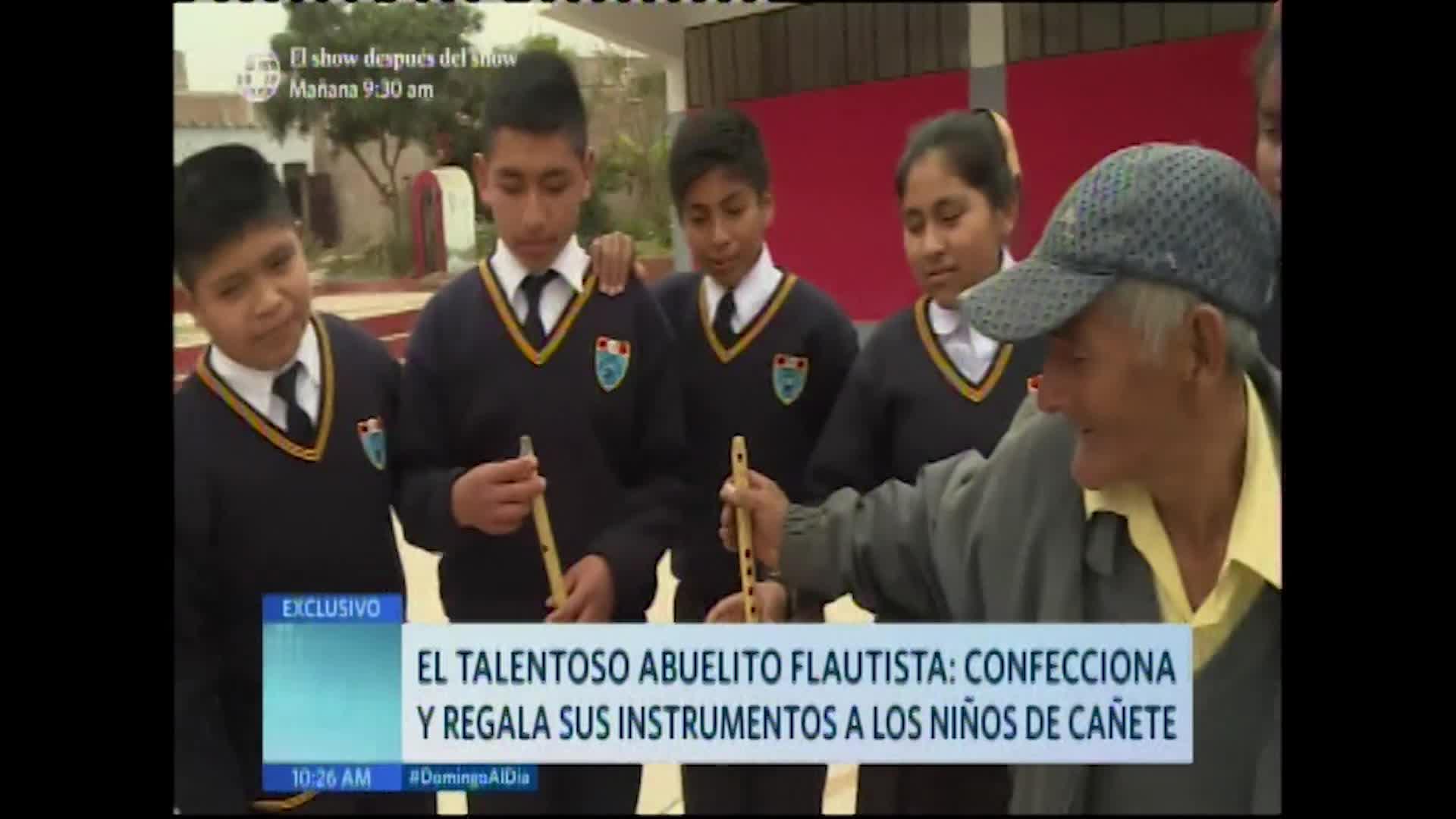Cañete: el bondadoso corazón de un abuelito flautista
