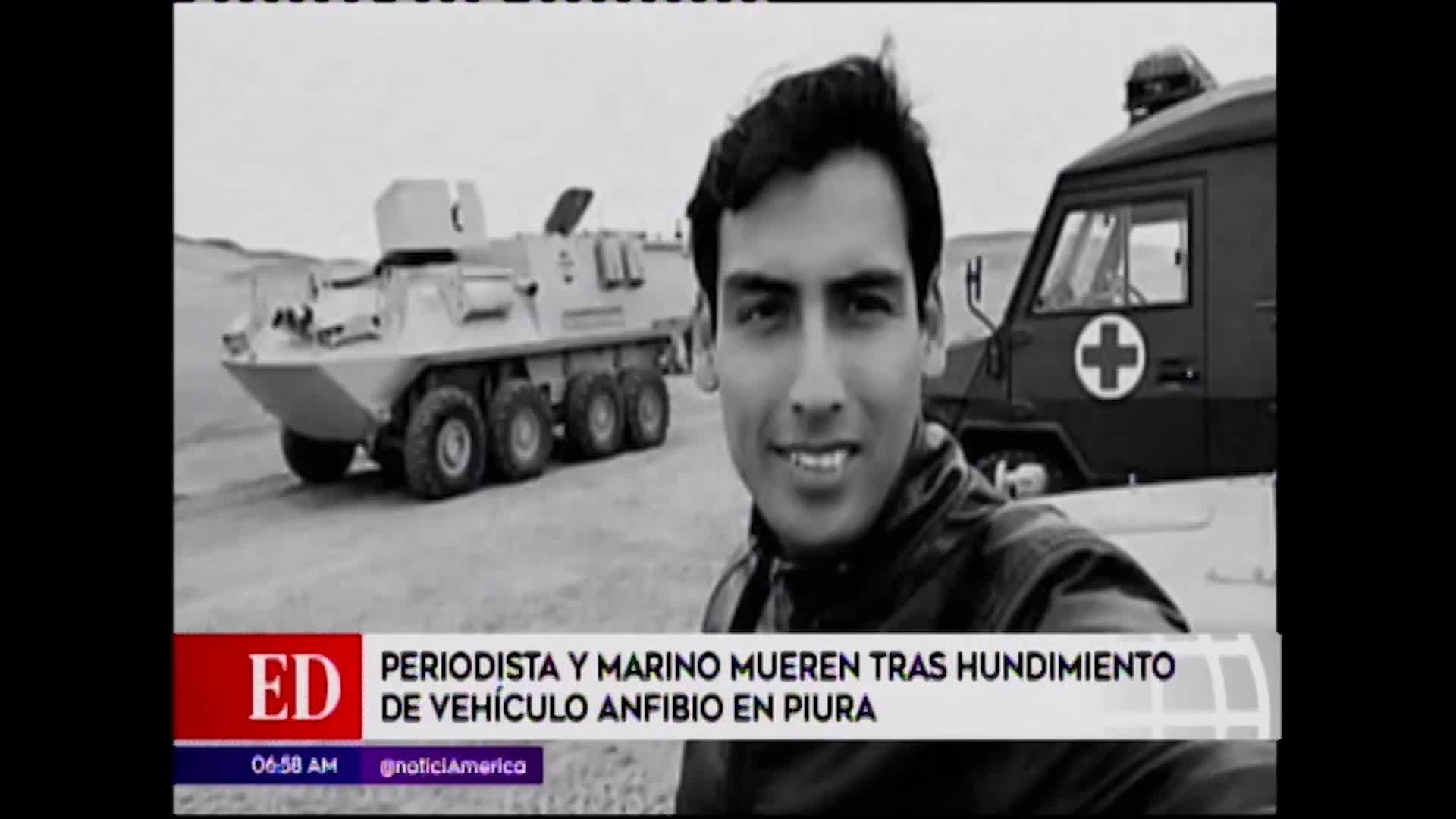Piura: periodista y marino mueren tras hundirse vehículo anfibio