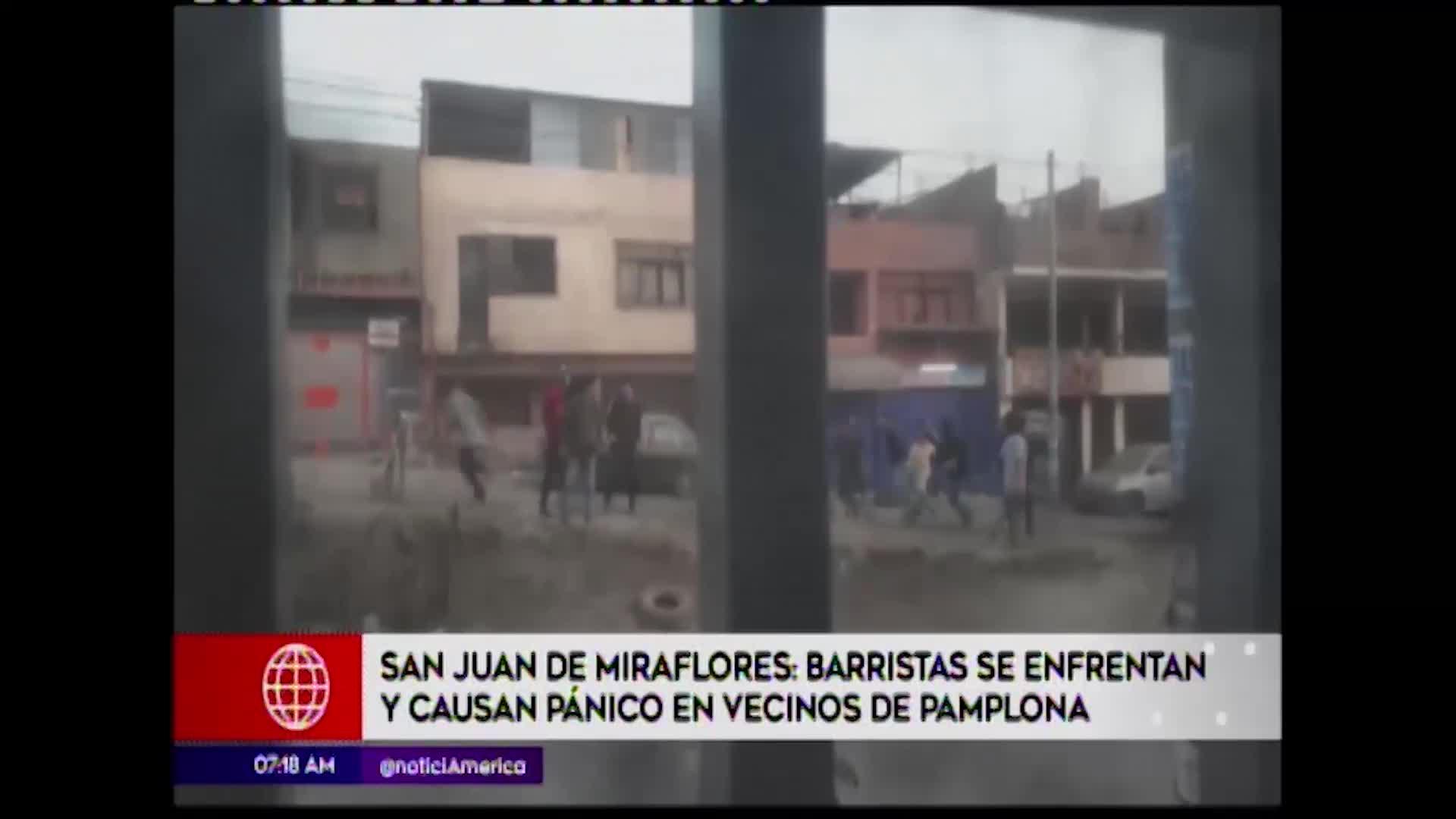 SJM: vecinos viven aterrados por enfrentamientos entre barristas