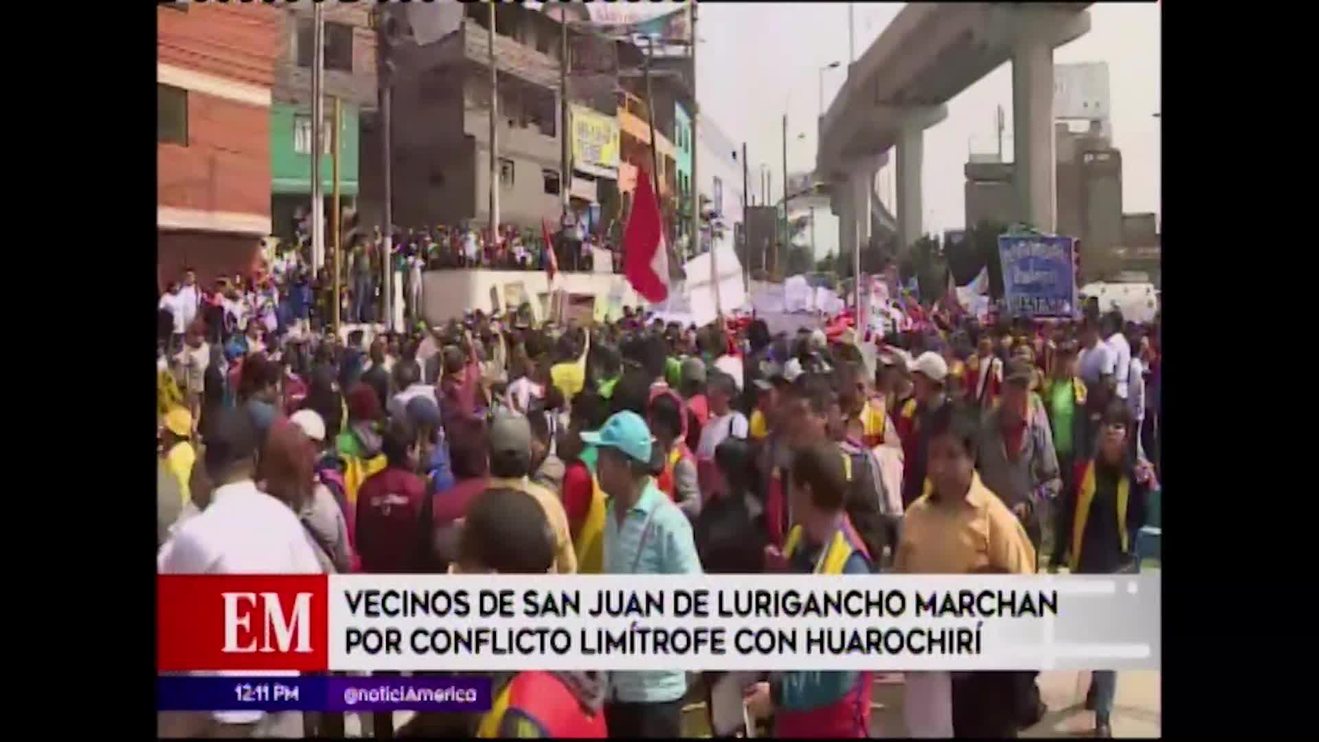 SJL: vecinos reclaman solución en el conflicto territorial con Huarochirí