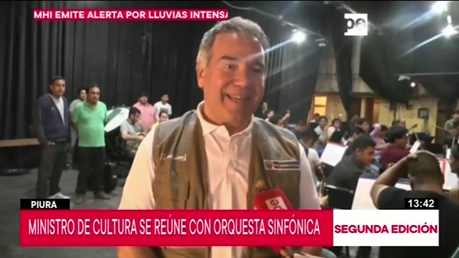 Ministro de Cultura llegó a Piura y se reunió con orquesta sinfónica