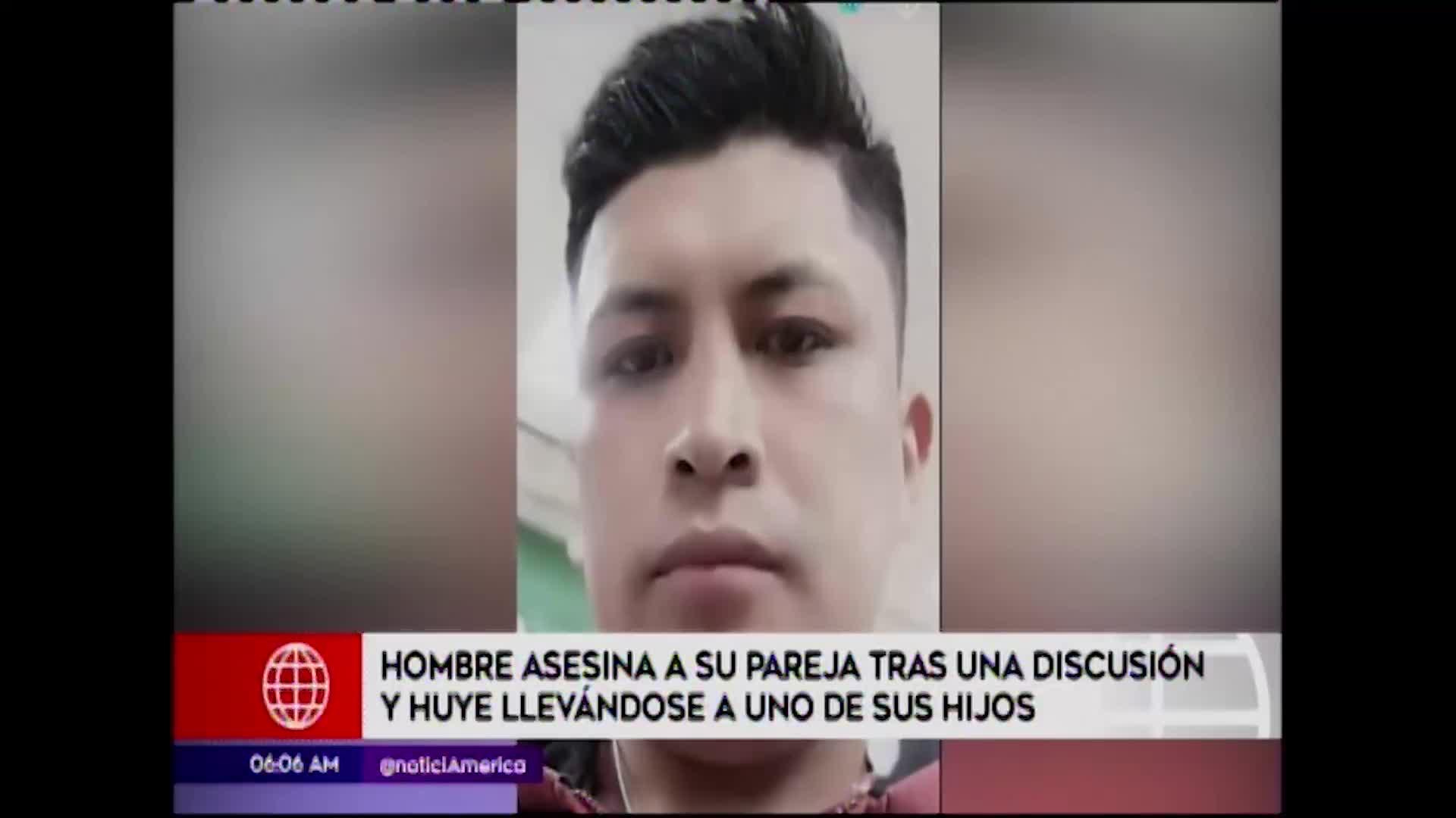 El Agustino: sujeto asesina a su pareja y se lleva a uno de sus hijos