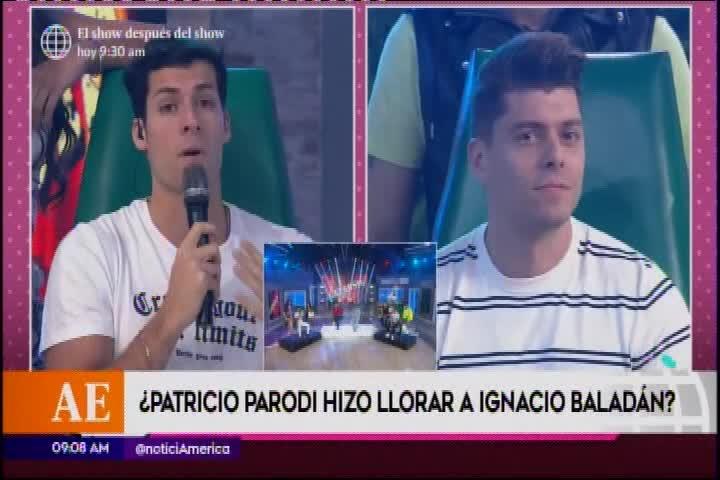 Patricio Parodio hizo llorar a Ignacio Baladán con inesperado calificativo