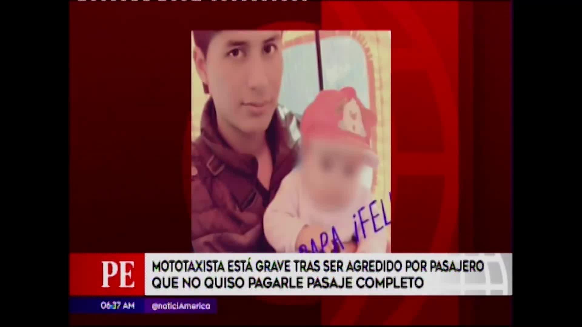 Ate: mototaxista fue agredido por pasajero que no quiso pagarle pasaje