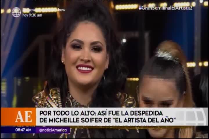 """Michelle Soifer reacciona así luego de su eliminación en """"El artista del año"""""""