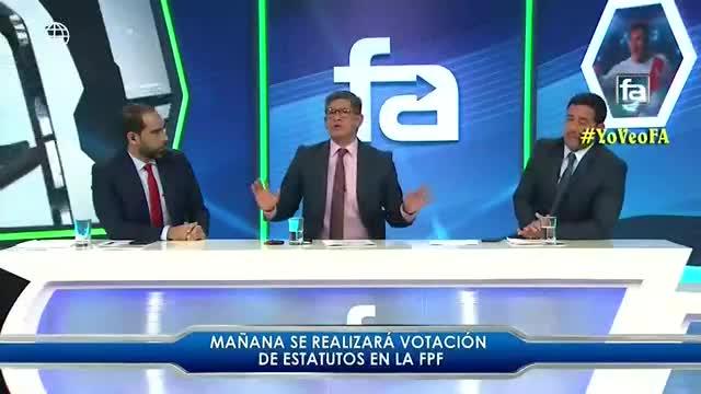 Erick Osores discute con conductores de FA por defender posición
