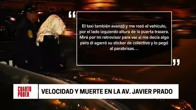 Este es el testimonio de la conductora del accidente en Javier Prado