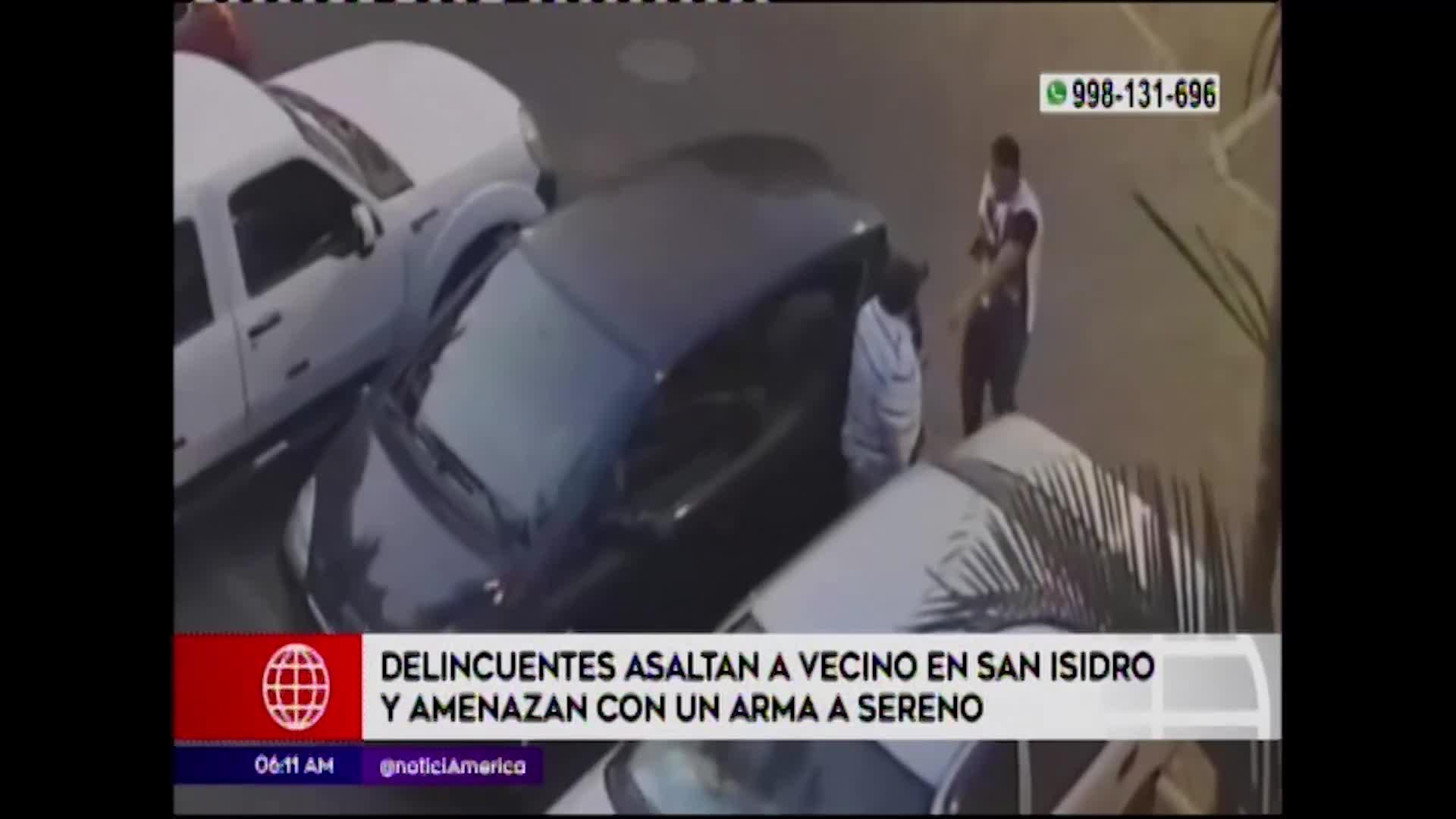 San Isidro: asaltan y amenazan con un arma a vecino de la zona