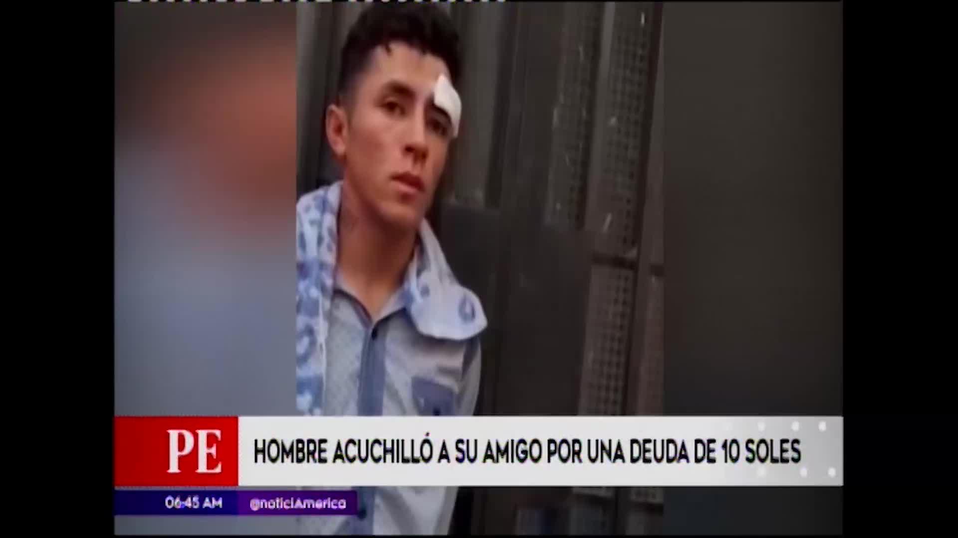 Los Olivos: sujeto ataca con un cuchillo a su amigo por deuda de 10 soles