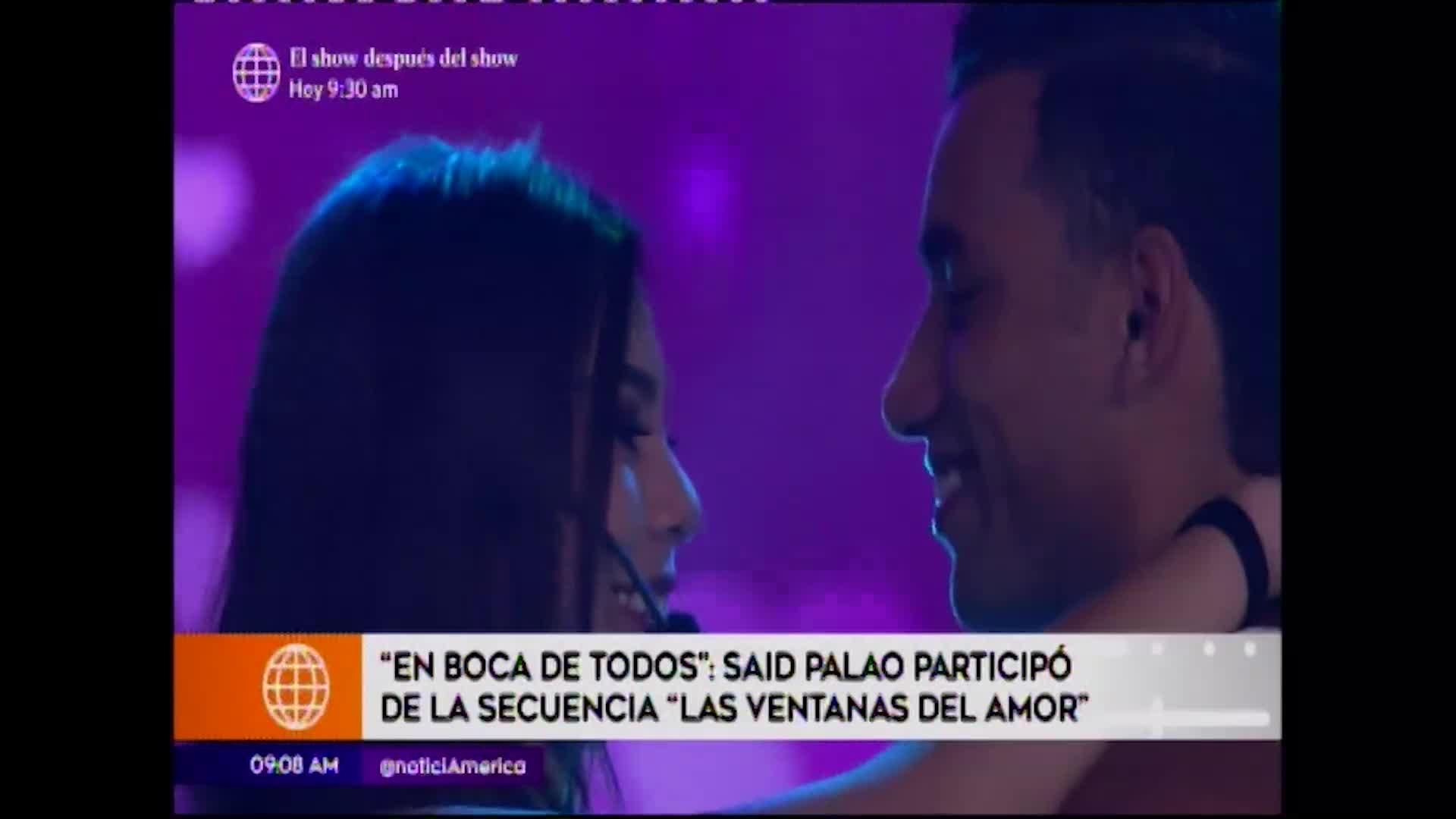 EBT: Said Palao formó parte de secuencia para encontrar pareja