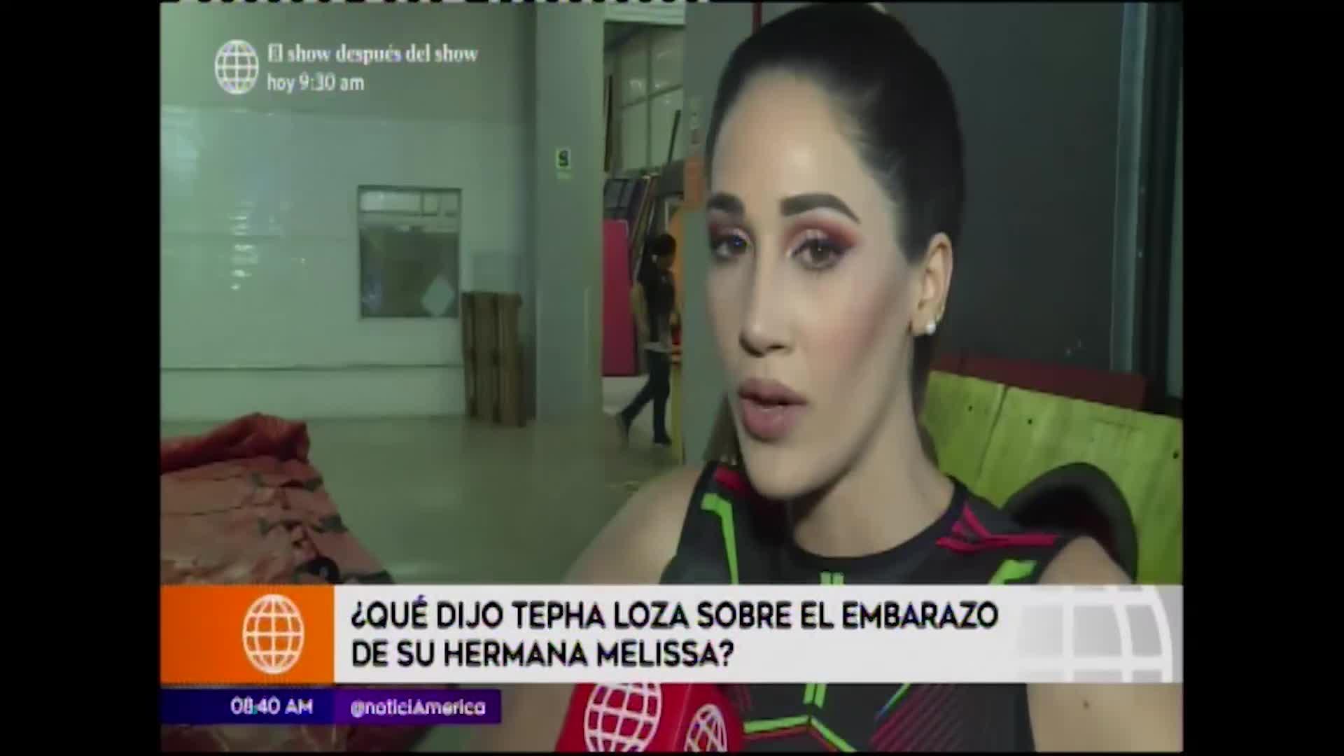 EEG: Tepha Loza se pronuncia sobre el embarazo de su hermana Melissa Loza