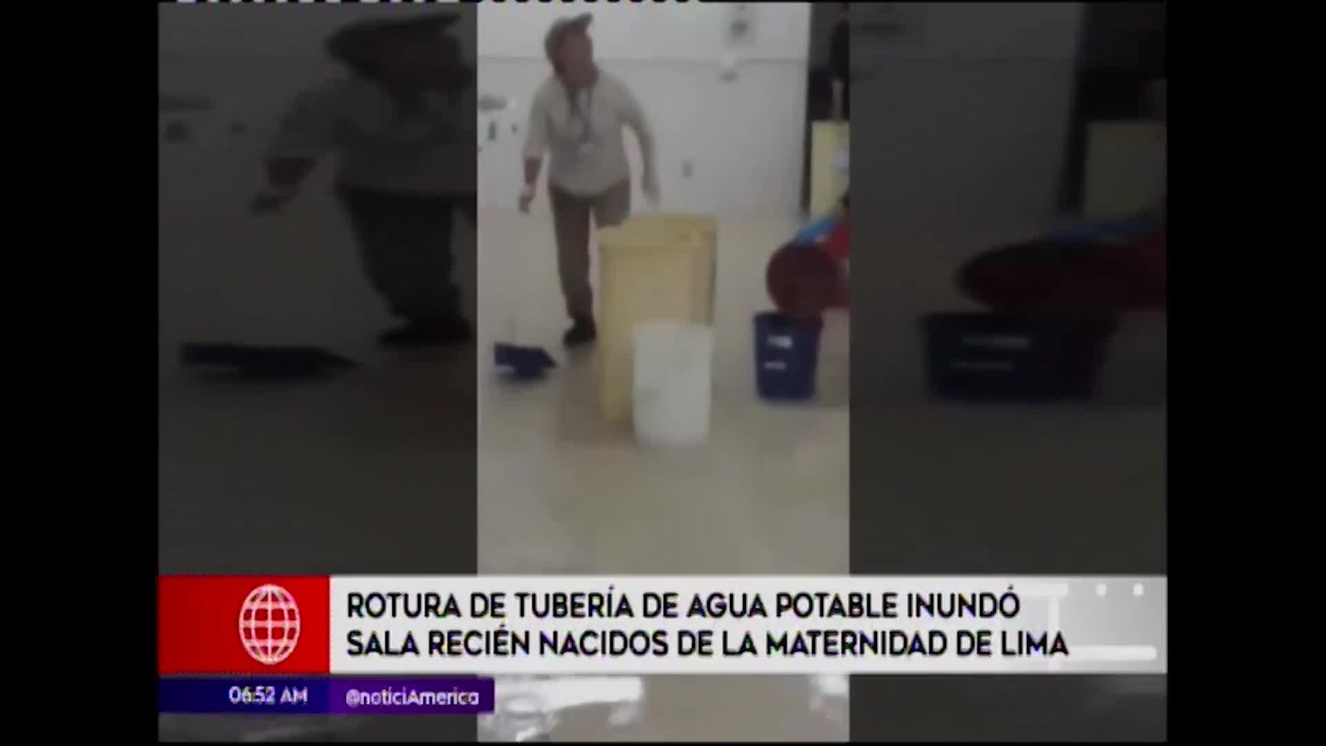 Cercado de Lima: rotura de tubería de agua inundó sala sala neonatal en Maternidad de Lima